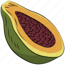 alligator pear, avocado, avocado pear, fruit, pear, tropical fruit icon