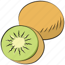diet, food, fruit, kiwi fruit, nutrition, organic icon