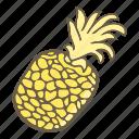 eat, food, fruit, pineapple