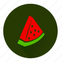 fresh, fruit, juicy, organic, plant, slice, watermelon icon