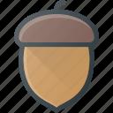 acorn, automn, fall, nut icon