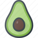 avocado, food, friut, health icon
