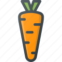 carrot, food, health, healthy, vegetable icon