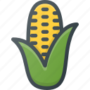 corn, food, health, healthy, pop, vegetable icon