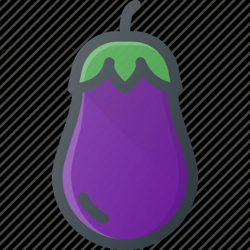 eggplant, food, fruit, health, healthy, vegetable icon