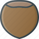 food, hazelnut, health, healthy, nut, wallnut icon