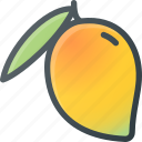 food, fruit, health, healthy, mango icon