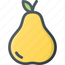 food, fruit, health, healthy, pear, vegetable icon