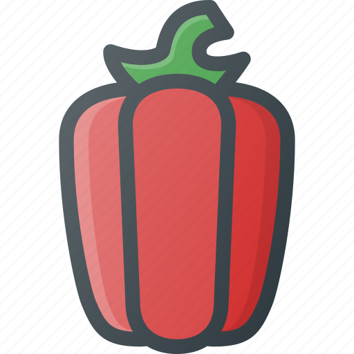 food, health, healthy, paprika, pepper, vegetable icon
