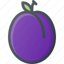 food, fruit, health, healthy, plum icon