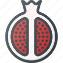 food, fruit, health, healthy, pomegranate icon