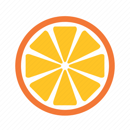 food, fruit, half, orange, slice icon