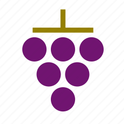 blueberry, food, fruit, grape icon