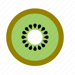food, fruit, half, kiwi, slice icon