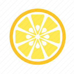 food, fruit, half, lemon, slice, vegetable icon