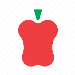 capsicum, food, pepper, red, vegetable icon