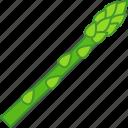 asparagus, garden, grass, green, sparrow, vegetable