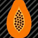 carica, fruit, papaw, papaya, pawpaw icon