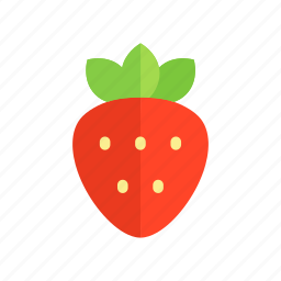 colour, food, fruit, health, red, strawberry, sweet icon