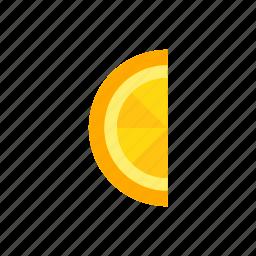 colour, food, fruit, juice, orange, segment icon