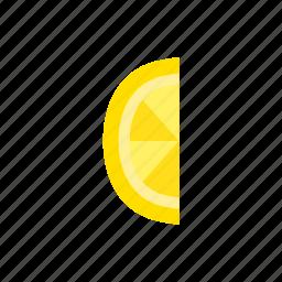 colour, food, fruit, health, lemon, segment, yellow icon