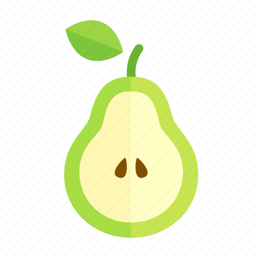 colour, food, fruit, green, health, pear icon