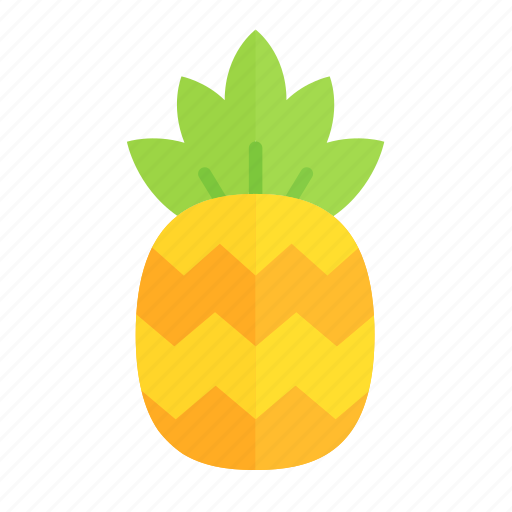 colour, food, fruit, health, pineapple, tropical, yellow icon
