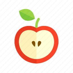 apple, colour, food, fruit, health, orchard, red icon
