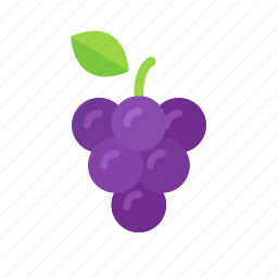 colour, food, fruit, grape, grapes, purple, wine icon
