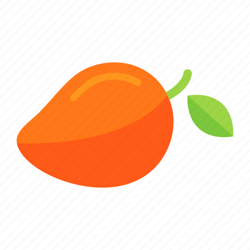 colour, food, fruit, health, mango, orange, ripe icon