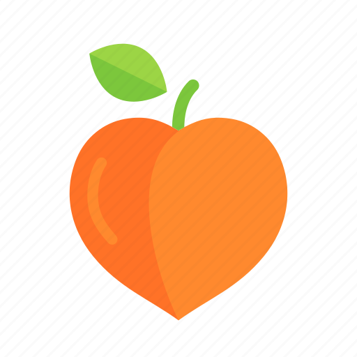 apricot, colour, food, fruit, health, orange, peach icon