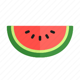 colour, food, fruit, health, melon, watermelon icon