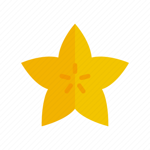 colour, food, fruit, health, star, starfruit, tropical icon