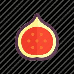 colour, fig, food, fruit, health, purple icon