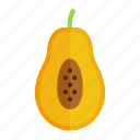 colour, food, fruit, health, papaya, tropical, yellow icon