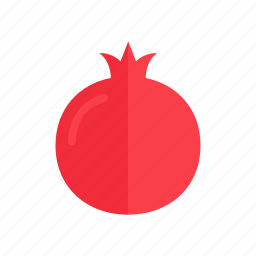 colour, food, fruit, health, pomegranate, red icon