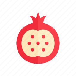 colour, food, fruit, heath, pomegranate, red, seeds icon