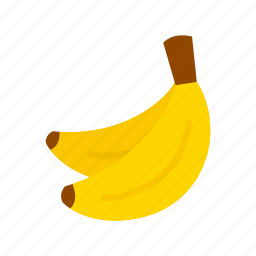 banana, bananas, colour, food, fruit, pair, yellow icon