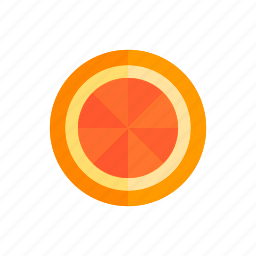 colour, food, fruit, grapefruit, orange, segment, slice icon