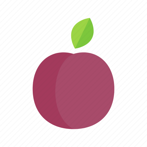 colour, food, fruit, health, plum, purple icon