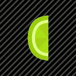 colour, food, fruit, green, lime, segment icon