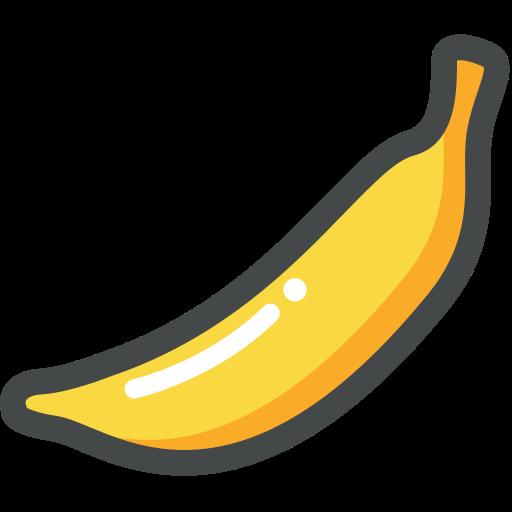 banana, food, fruit, organic, vegan, vegetarian icon