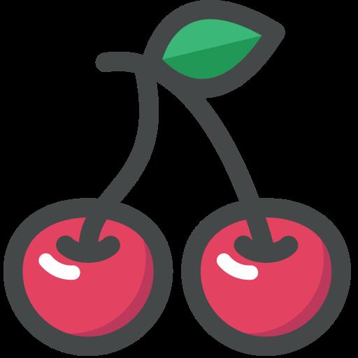 cherry, food, fruit, organic, vegan, vegetarian icon
