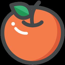 food, fruit, orange, organic, vegan, vegetarian icon