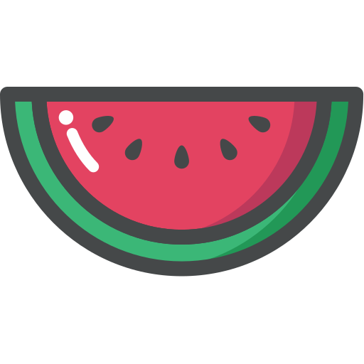 food, fruit, organic, vegan, vegetarian, watermelon icon