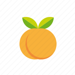 apricot, food, fruit, leaves, peach, sweet, tropical icon
