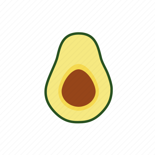 avocado, core, exotic, food, fruit, half, tropical icon