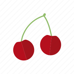 cherries, cherry, food, fruit, stem, sweet icon