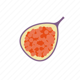 exotic, fig, food, fruit, half, seeds, tropical icon