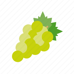 berry, food, fruit, grapes, green, wine icon